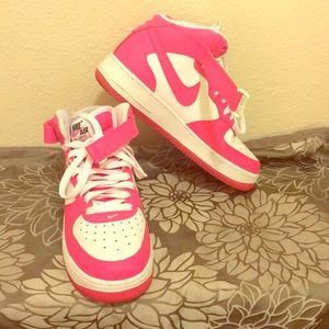 Women's Nike Pink Air Force Ones